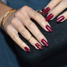 amazing celebrity beauty red nails art 2016 new fashions
