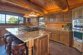 spanish kitchens with alderwood cabinets granite counters