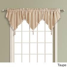 home copper faux silk window valance rust curtain topper