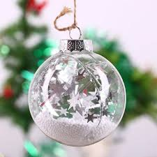 60 80 100mm clear glass baubles globe balls fillable hanging
