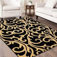 allstar rugs black yellow area rug u0026 reviews wayfair