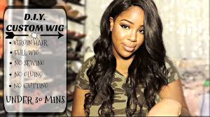 snap hair d i y wig snap weave hair review styling talk through