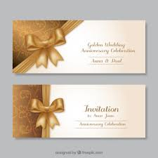 Wedding Invitations Free Golden Wedding Anniversary Invitations Vector Free Download