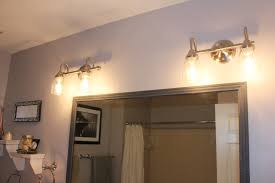 Bathroom Lamps Bathroom Lowes Bathroom Lighting With Four Lamps On The Wall Is