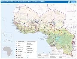 bureau de coordination des affaires humanitaires carte de l afrique de l ouest et du centre coordination des