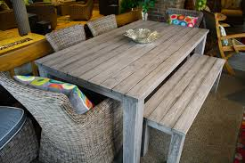 patio table and bench reclaimed teak dining table with benches teak warehouse pertaining