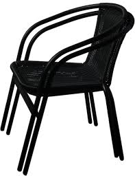 Stackable Wicker Patio Chairs Furniture Stacking Bistro Chairs Stacking Dining Chairs U201a Front