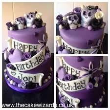 cake wizards kellyemmaellis purple skull cake jon