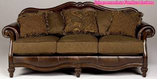Classic Carved Oak Wood Leather Sofa Design - Classic sofa designs
