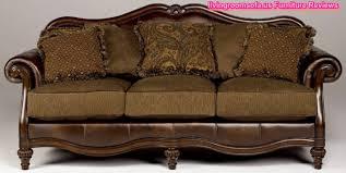 Classic Carved Oak Wood Leather Sofa Design - Classic sofa design