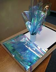 where can i buy colored cellophane colored iridescent wrap blue