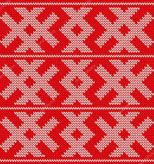 traditional knitted ornament pattern colour