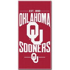 Oklahoma travel towel images Oklahoma sooners fan shop sports full time jpg