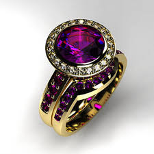 amethyst engagement ring sets best amethyst engagement set products on wanelo