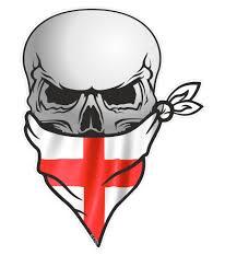 American Flag Skull Gothic Biker Pirate Skull With Face Bandana U0026 St Georges Cross