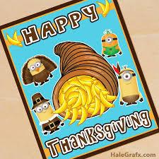 printable thanksgiving minions poster