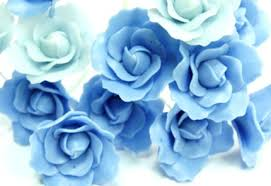 blue roses for sale 20 pcs of light blue and venetian blue clay roses handcrafted