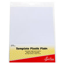 Plastic Template Sheets Sew Easy Template Plastic Plain 2 Sheets 280 X 215mm Sewing Quarter
