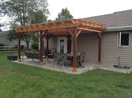 covered pergola plans 12x18 u0027 outside patio wood design