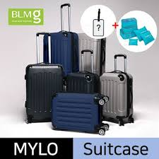 Qoo10 free pouch and name tag milo cube travel luggage abs