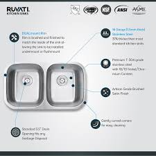 How To Measure For A Kitchen Sink by Ruvati Rvm4300 Undermount 16 Gauge 32