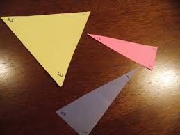a little sum thing about triangles math in the middle