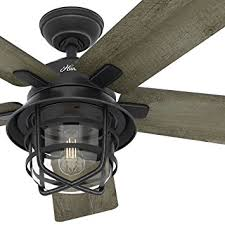 Ls Plus Ceiling Fans With Lights Fan 54 Weathered Zinc Outdoor Ceiling Fan With A Clear