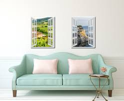 wine vineyards tuscany italy picture 3d window wall art home decor