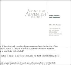 letter and response from the general conference about