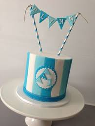 periwinkle blue damask cake by finesse cakes melbourne cakes