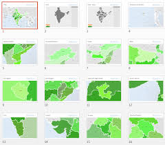 india map states powerpoint outline map vector
