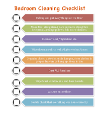 bedroom cleaning checklist home planning ideas 2018