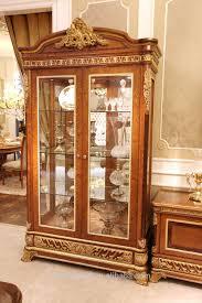 Wooden Bedroom Furniture Designs 2015 2015 0062 Italian Classic Antique Living Room Display Showcase