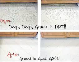 getting ground in dirt out of vinyl flooring