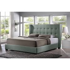 upholstered platform bed queen baxton studio favela queen queen