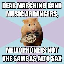 Band Geek Meme - not just mellophone but concert horn too haha yes it s a