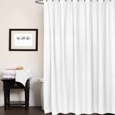 waffle white cotton shower curtain free shipping today