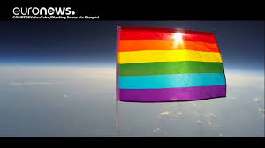 Usa Rainbow Flag American Charity Sends Lgbt Rainbow Flag Into Stratosphere Youtube
