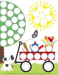 spring do a dot printables for preschoolers spring activities
