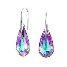 silver teardrop earrings sterling silver briolette teardrop dangle earrings