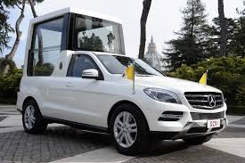 mercedes benz ceo pope francis presented with mercedes m class based popemobile
