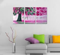 blooming tree landscape multi piece oil painting