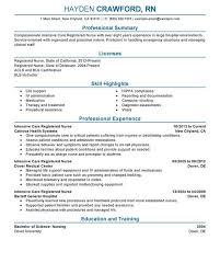 Health Informatics Resume Rn Resume Example Nursing Cv Template Nurse Resume Examples