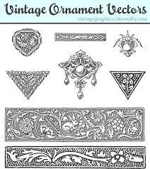 Vintage Ornaments by Vintage Ornament Vectors Design Kit Oh So Nifty Vintage Graphics