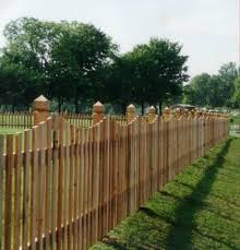 picket fences white cedar custom scalloped spaced picket fence with hunterton