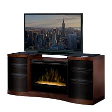 60 Inch Tv Stand With Electric Fireplace Dimplex Windham Mocha Electric Fireplace Media Console Hayneedle