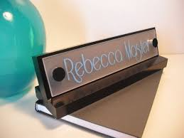 Desk Name Plates With Business Card Holder 8 Best Desk Name Plates Images On Pinterest Desk Name Plates