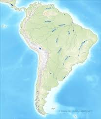 North America South America Map by South America Physical Map U2013 Freeworldmaps Net