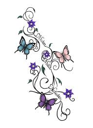 butterfly and flower tattoo designs butterflies tattoo by