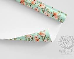 floral wrapping paper rolls boho wrapping paper etsy